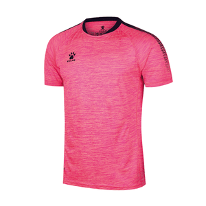 Men's Short Sleeve Football Shirt - Space Dye Neon Pink / Dark Blue