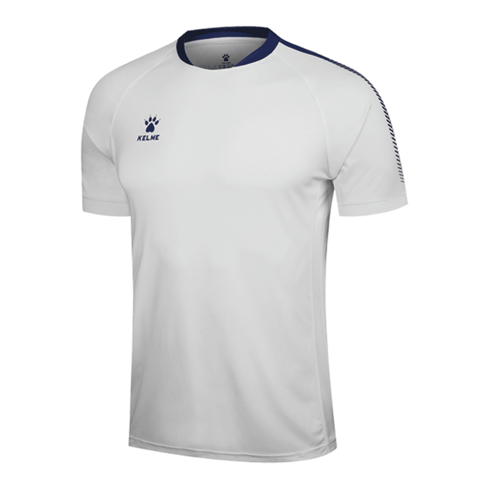 Men's Short Sleeve Football Shirt - White / Royal Blue