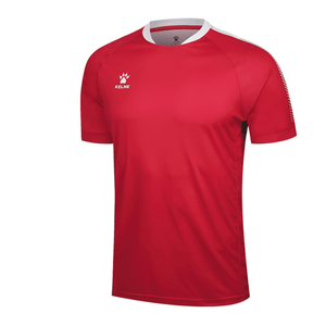 Men's Short Sleeve Football Shirt - Red / White
