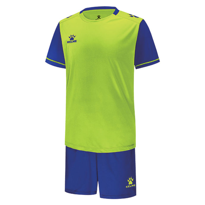 Kid's Football Set Neon Green / Royal Blue