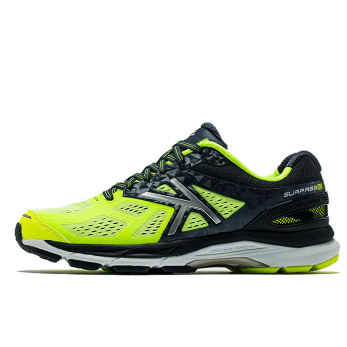 Running Shoes Neon Yellow Dark Blue