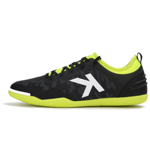 Indoor Soccer Shoes Black Yellow
