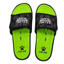 Load image into Gallery viewer, Sandals Black Neon Yellow
