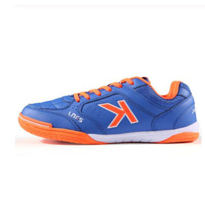 Indoor Soccer Shoes Sapphire Blue Orange