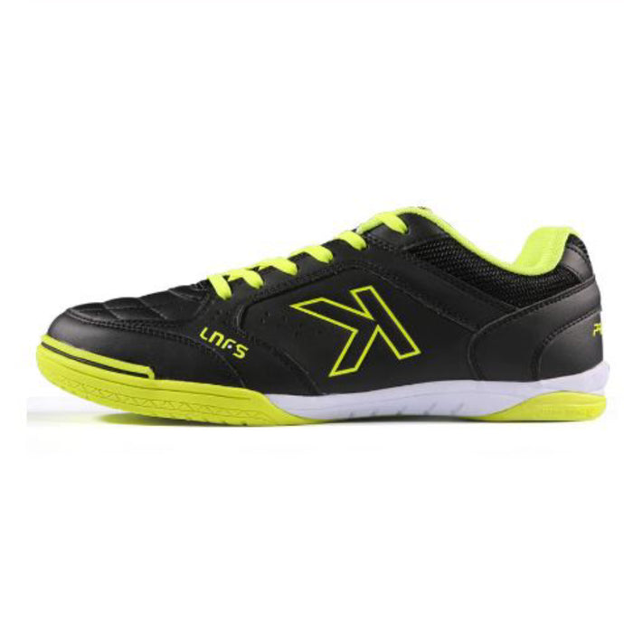 Indoor Soccer Shoes Black Neon Yellow