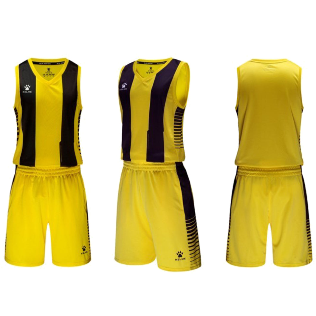 Men's Basketball Set Yellow Black