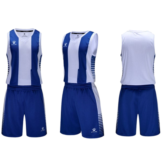 Men's Basketball Set White/Royal Blue