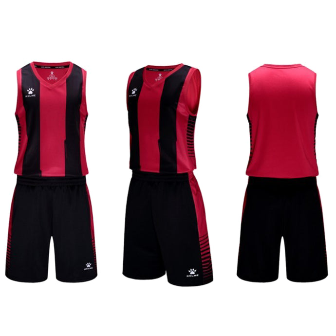 Men's Basketball Set Red Black
