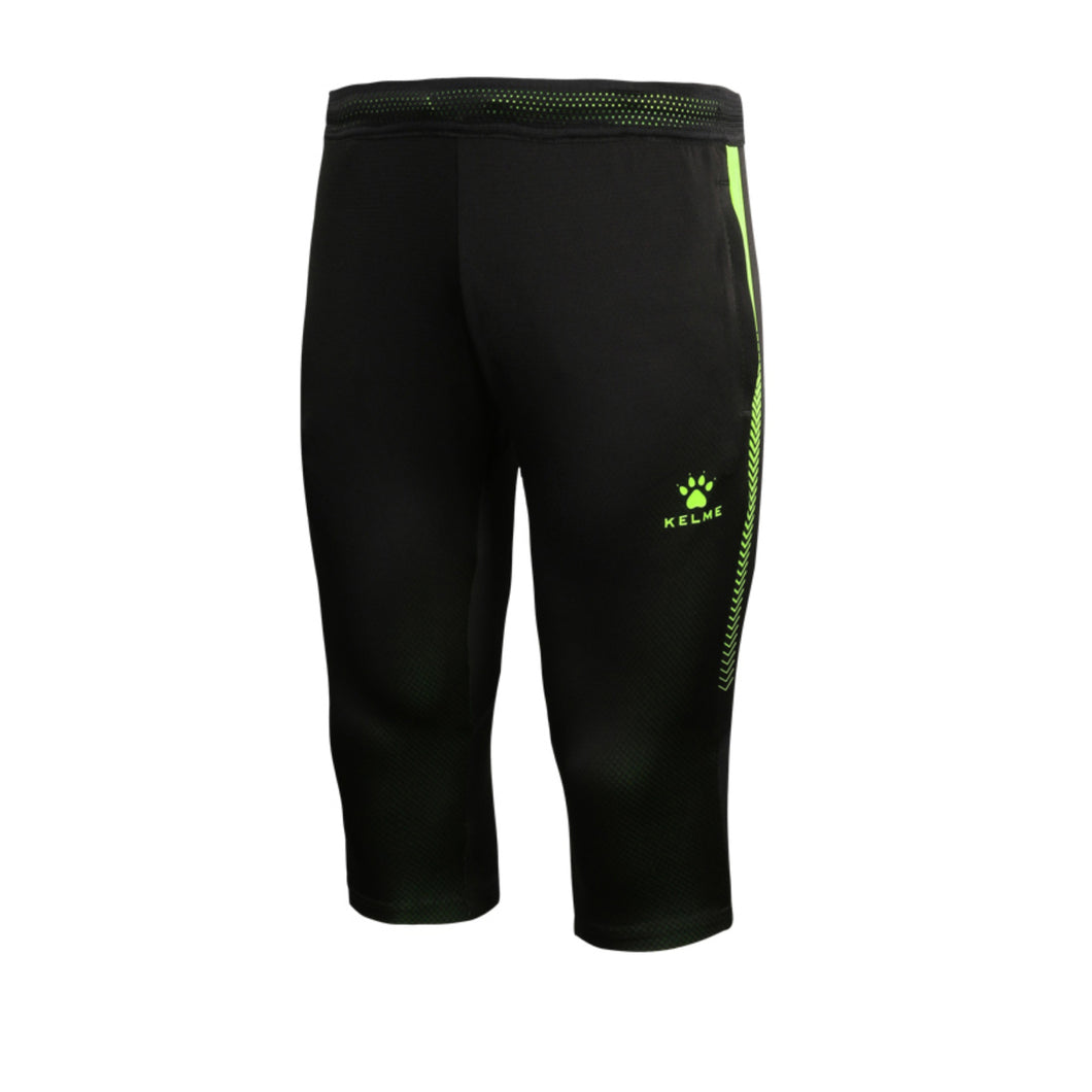 3/4 Adult Training Pants Black/Neon Green