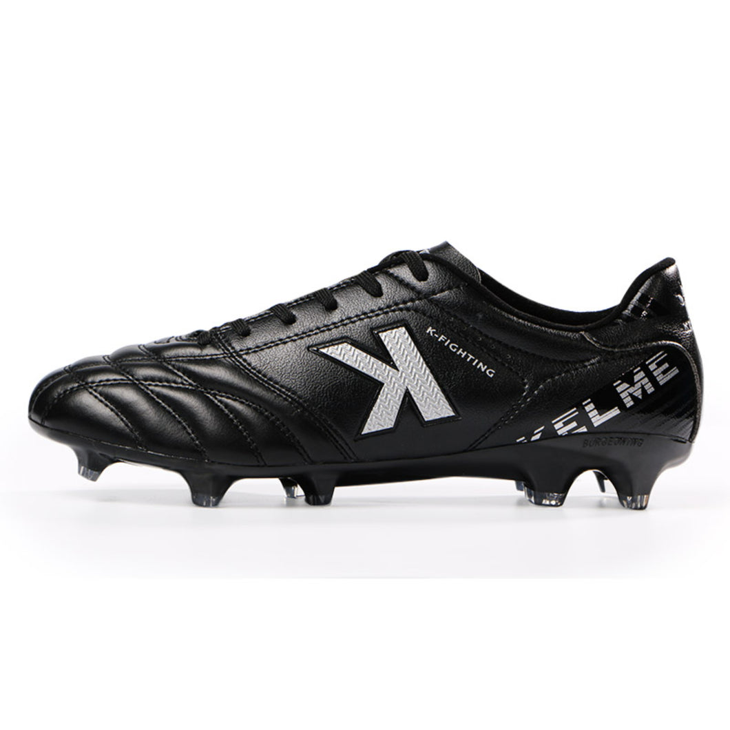 kangaroo Cleats  Outdoor Soccer Shoes Black