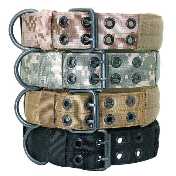 Wide Military Dog Collar Nylon Tactical Dogs Collar Pet Collars With Patch for Large Dog K9 German Shepard Pitbull Training