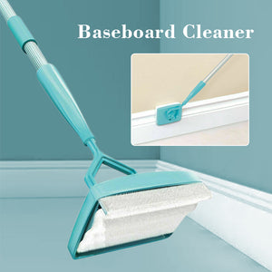 Baseboard Buddy Cleaner Mop Extendable Microfiber Dust Room Household Cleaning