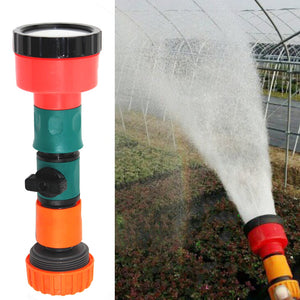 Watering Greenhouse Shower Water Gun Hose Hand Held Straight Nozzle Home Spray Head With Switch Garden Sprinkler Lawn Seedlings