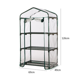 Mini Greenhouse Walk In Grow Bag Green House PVC Cover Plastic Garden (without bracket)