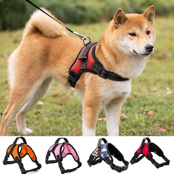 Walking lead leash Dog Pet Harness vest Collar Adjustable Padded Extra Big Large Medium Small  Dogs cat harness Supplies xs-2xl