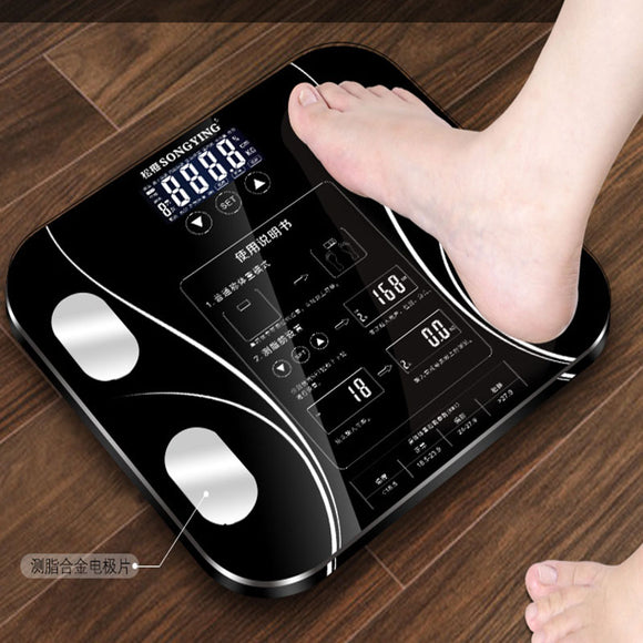 USB Chargeable Body Fat Scale Weight Scale Household Measuring Electronic Scale Fat  Scale Accurate Body Scale Chinese Verison