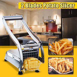 Stainless Steel French Fry Potato Chip Cut Cutter Vegetable Fruit Cucumber Slicer Chopper Chipper Blade Easy Kitchen Tools