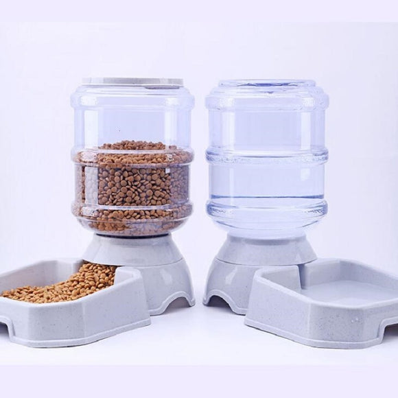 3.8L Plastic Pet drinkers cat dog automatic feeder drinking animal pet bowl water bowl for pets Dog Automatic Drinkers