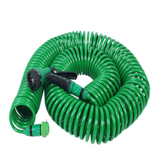 Watering Irrigation Spring Tube Car Wash Water Gun 8 Function with Nozzle 25FT Flexible Portable Expandable Garden Water Hose
