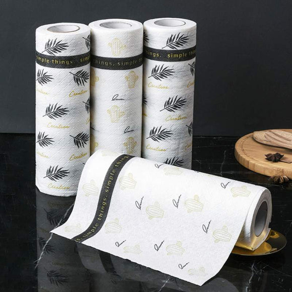 Nordic Style Kitchen Dish Paper Towel Household Cleaning Cloth Reusable Oil-absorbing Cleaning kitchen towel Household Tool
