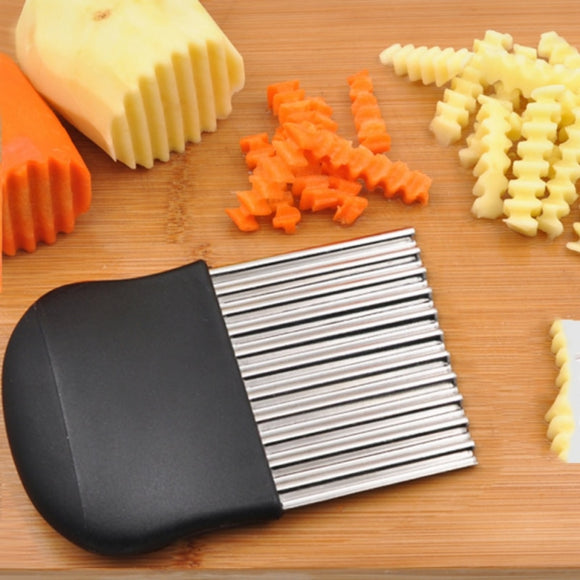 French Fries Cutter Stainless Steel Potato Chips Making Peeler Cut Vegetable Knives Fruit Vegetable Slicer Potato Cutting