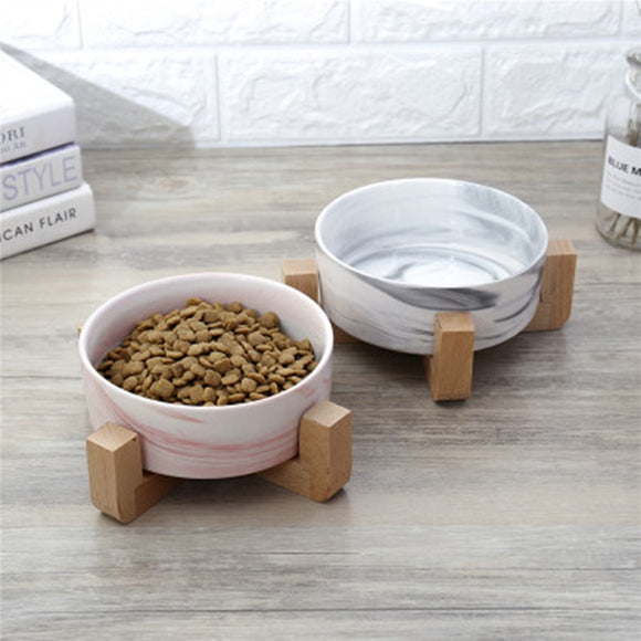 Dry Ceramic Pet Bowl Canister Food Water & Treats for Dogs & Cats More Comfortable Eating for Kitten and Puppy Durable 23JunO4