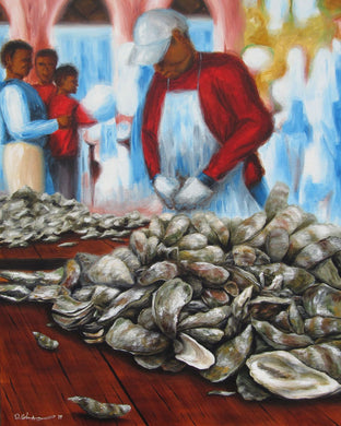 """Oyster Roast Study"" by Dana Coleman"