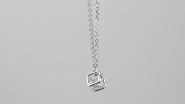 Icecube Necklace Silver