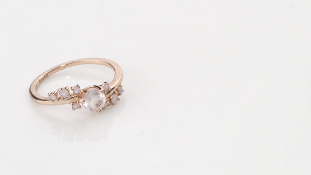 Love Stoned Ring Rose Gold