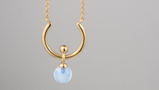 Moon River Necklace Gold