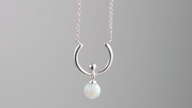 Moon River Necklace Silver