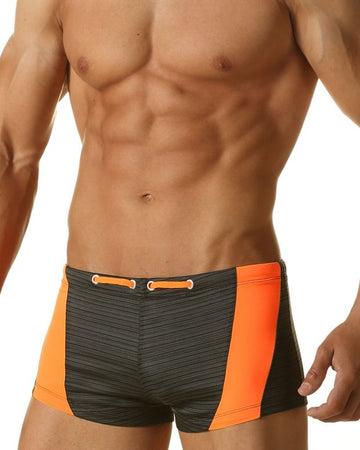 Rio Square Cut Swim - Carbon
