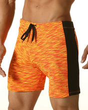 Digital Thigh Length Swim - Orange