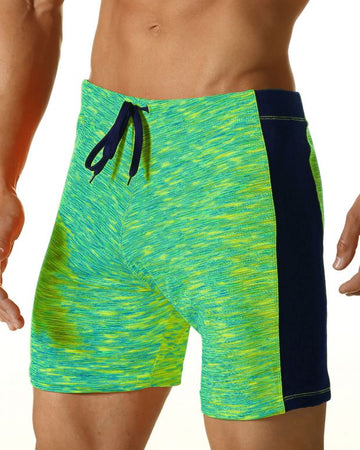 Digital Thigh Length Swim - Green