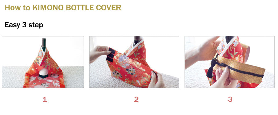 how to KIMONO bottle cover