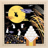 kyoohoo Chirimen Furoshiki Tsukimi (Full Moon & Rabbit) date of 10/15