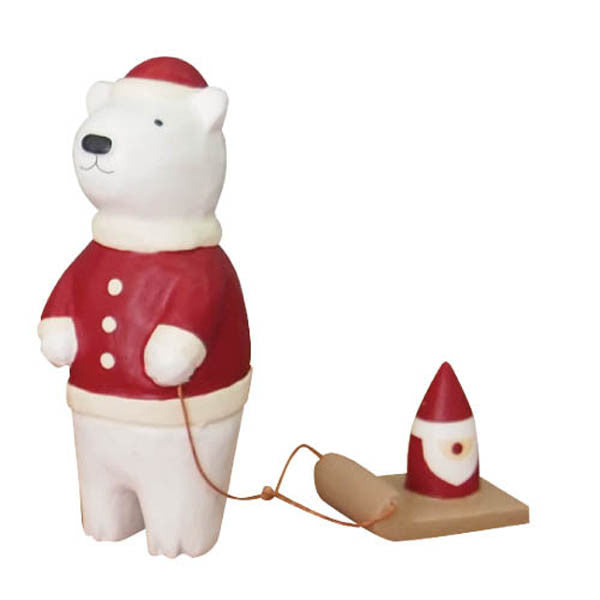 T-lab polepole animal Christmas Santa Claus Bear santa