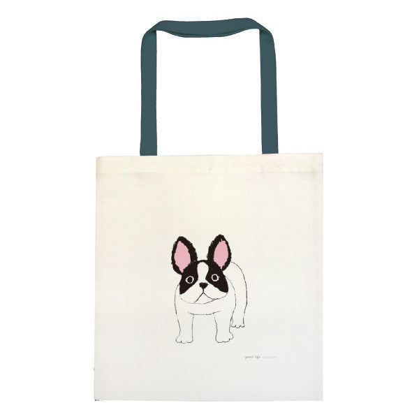 Greeting Life Cotton linen Tote Bag Yusuke Yonezu French Bulldog YZZ-115