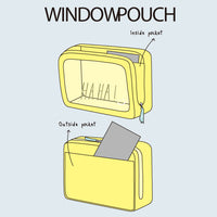 Greeting Life Window Pouch S Chic ATZ-94