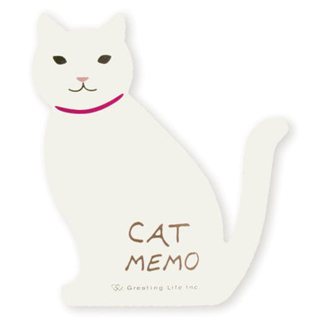 Greeting Life Animal Die Cut Memo Cat ETN-63
