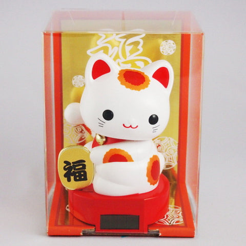 Solar Powered Baby Manekineko Red