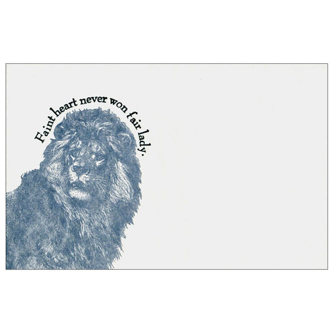 Letter Press Proverb Card LION