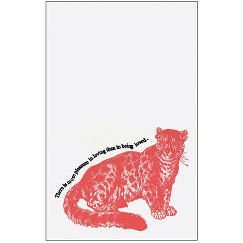 Letter Press Proverb Card PANTHER