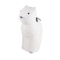 T-lab polepole animal monotone series CAT white