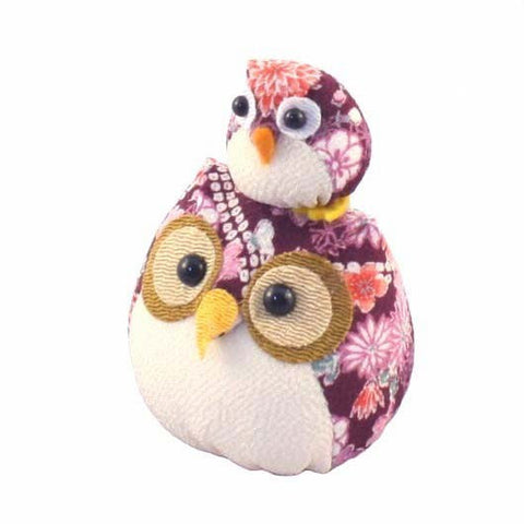 Chirimen Family Owl Purple
