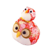 Chirimen Family Owl Red