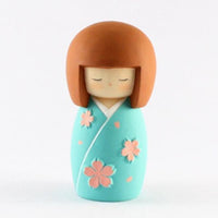 Kyoohoo Japanese Kokeshi Doll Cherry Season Blue (K12-3882C)