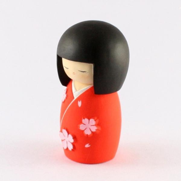 Kyoohoo Japanese Kokeshi Doll Cherry Season Red (K12-3882R)