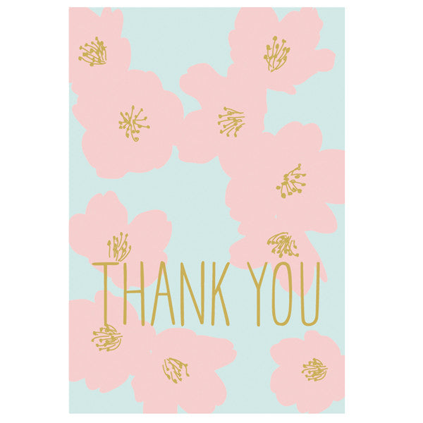 Greeting Life Cherry Blossom Thank you Card ER-27