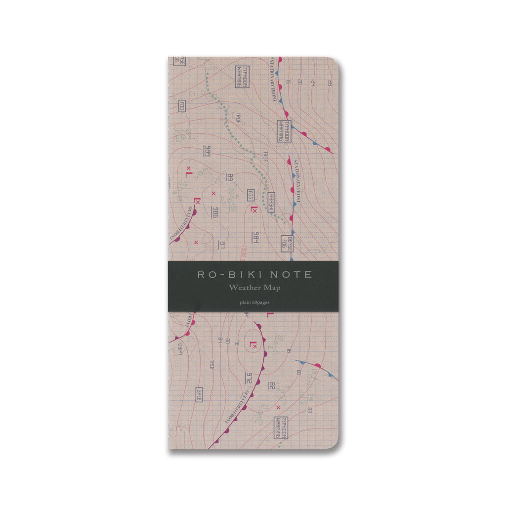 RO-BIKI NOTE MAP SERIES Weather Map GA037